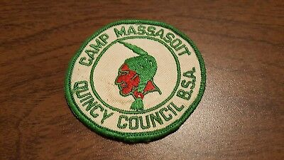 BSA, 1960's Camp Massasoit Patch, Quincy Council