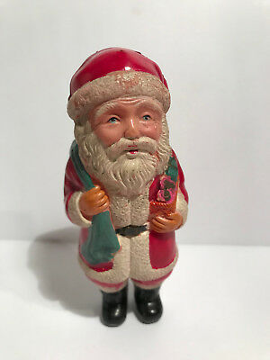 "Vintage Christmas Celluloid Santa Claus Figure Japan ""RARE"""