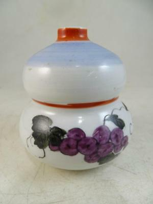 Antique Chinese Canton Butterfly Hand Painted Inkwell Ink Dip Vase 1800s Vintage