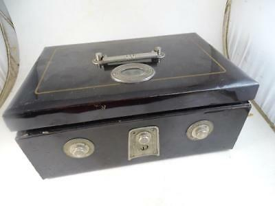 Antique Japanese Safety Cash Box Combination Lock Mamiya Do Vintage WWII Safe