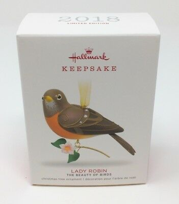 2018 Hallmark Keepsake Ornament LADY ROBIN The Beauty of Birds Limited Edition
