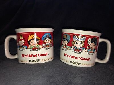 Vintage Campbell's Soup Mugs by Westwood 1993 Set of 2