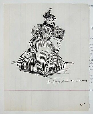 Charles Dana Gibson Drawings (4) + Mabel Doolittle Drawings (20) + (49) Unsigned