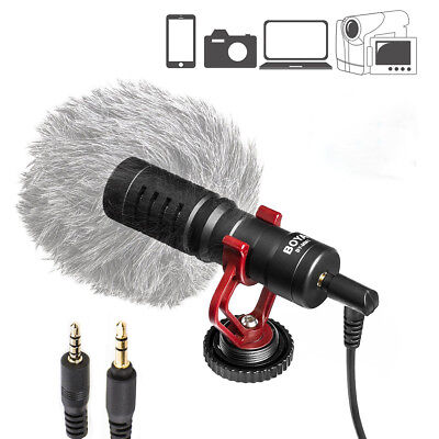 Boya BY-MM1 BY Mini Cardioid Shotgun On-Camera Video Microphone For iOS Android