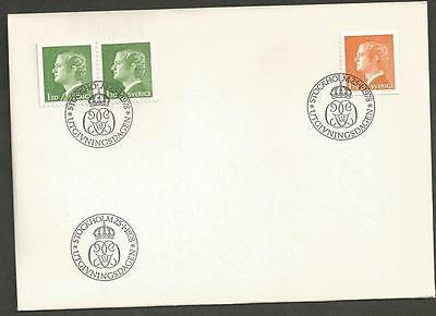 SWEDEN -  1978 New values    - FIRST DAY COVER.