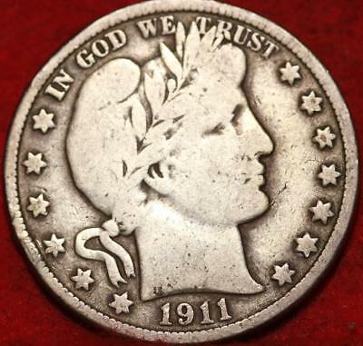 1911 Philadelphia Mint Silver Barber Half Dollar