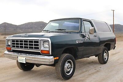 1985 Dodge Ramcharger  1985 Dodge Ram Charger 4x4