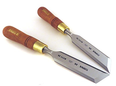 "Narex Right & Left 26 mm 1 1/16"" Skew Paring Chisels 81126/811176"