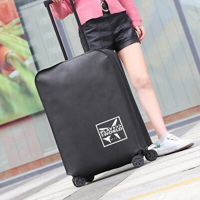 Waterproof Protective Travel Luggage Suitcase Dustproof Cover Case Black