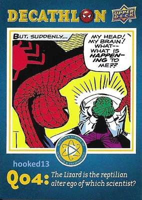 Marvel Spider-Man Homecoming Decathalon Q04 Card #SD4