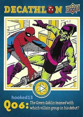 Marvel Spider-Man Homecoming Decathalon Q06 Card #SD6