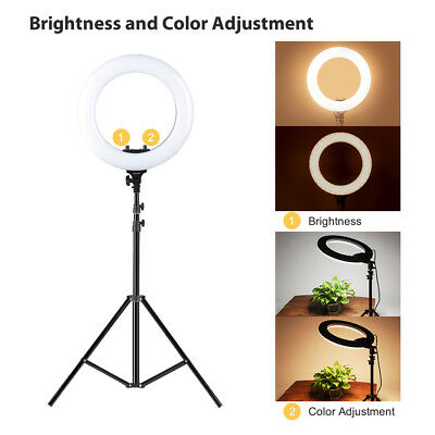 14 Inch Two-color Ring Fill Light for Camera Smartphone Youtube Video Shooting