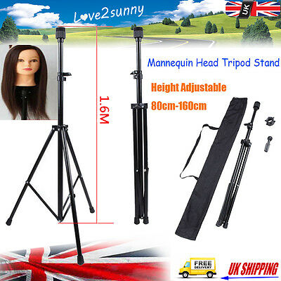 Adjustable Tripod Stand for Hairdressing Training Head Mannequin with Bag New