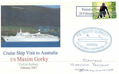 Cruise ship cover - T/S Maxim Gorky visit to Sydney / 2007 (1 of 10)