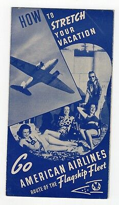 1930s American Airlines Stretch Your Vacation brochure