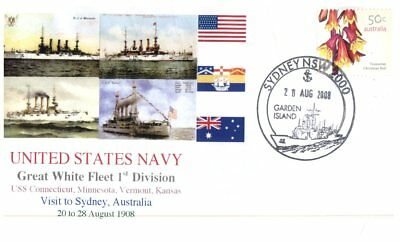 Navy covers - Great White Fleet Visit Centenary - Sydney NSW (5 covers)