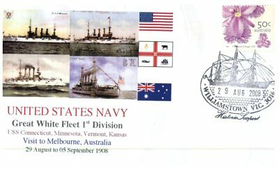 Navy covers - Great White Fleet Visit Centenary - Melbourne VIC (5 covers)