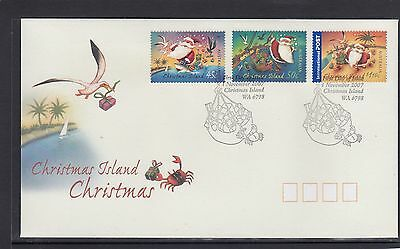 CHRISTMAS ISLAND 2007 CHRISTMAS set on FDC - BIRDS Wildlife.