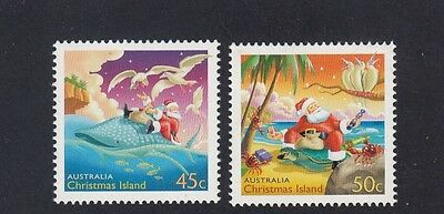 CHRISTMAS Island 2003 CHRISTMAS design set of 2 MNH - Santa Claus & Wildlife