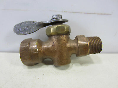 "Vintage Anderson Brass ""Kantleak"" Water/Gas Valve- Turn Head"