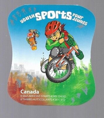pk39989:Stamps-Canada #BK312 Youth Sports 8 x 50 cent Booklet -MNH