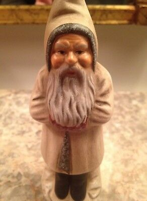 Marolin Belsnickle Santa Paper Mache Germany Candy Container 6.5 Inches Tall