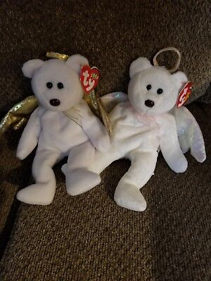 TY Beanie Babies Halo and Halo II Lot - Lot of 2 Bears - Both with Tags! New