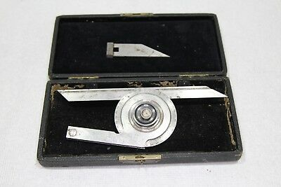 L.S. Starrett No.360 Universal Bevel Vernier Protractor 360 Degrees machinist