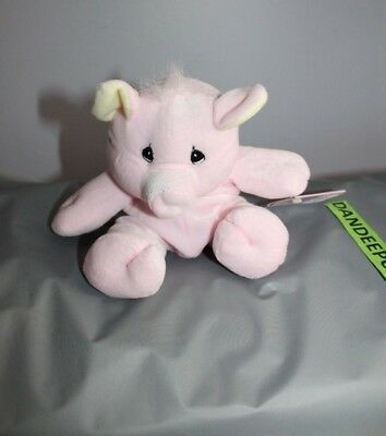 Enesco Tender Tails Pink Pig Stuffed Animal 358258 With Tag