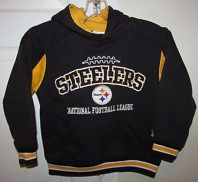 NFL Pittsburgh Steelers Reebok Hoodie Sweatshirt Youth Small (8) EUC