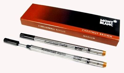 Montblanc 2 recharges pour rollerball (M) Chestnut Brown