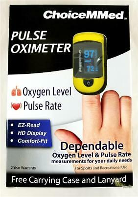 ChoiceMMed Fingertip Pulse Oximeter Oxygen Level Pulse Rate OxyWatch C20