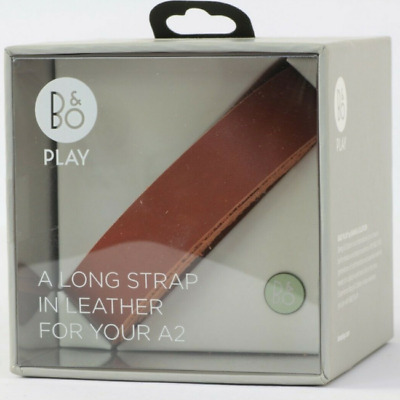 B&O Play By Bang And Olufsen Short Leather Strap For A2 Speaker - Dark Brown/Red