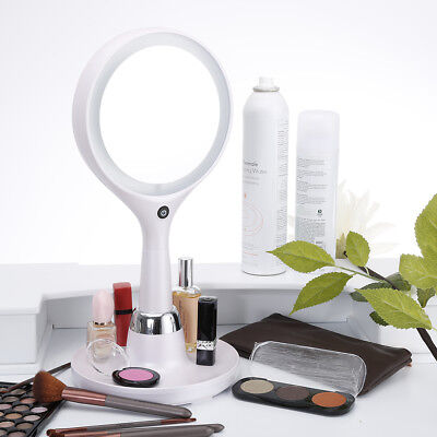 Ovonni Double-Sided LED Lighted Touch Makeup Mirror 7x Magnifying USB Bed Lamp