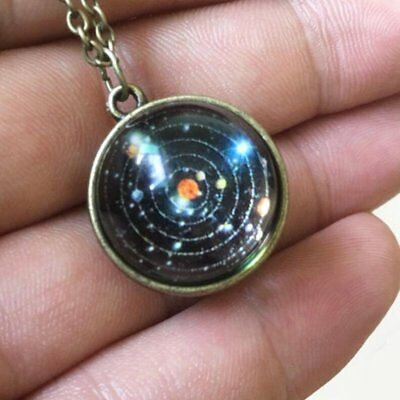 Retro Galaxy Necklace Nebula Jewelry Stars And Universe Space Pendant Necklace