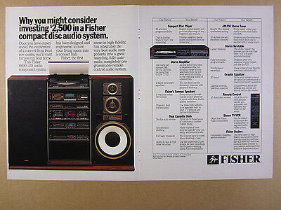 1986 Fisher 8690 AD Stereo Rack Component System photo vintage print Ad