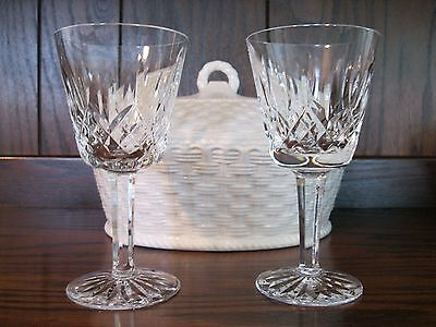 "Pre-owned set of 2 Waterford Crystal ""Lismore"" Wine Glasses"