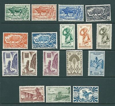 FRENCH COLONIES stamp collection MNH