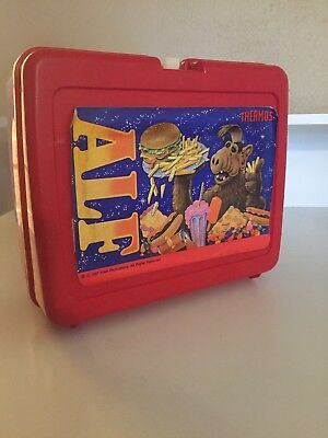 ALF vintage 1987 Thermos lunch box with thermos lunchbox plastic
