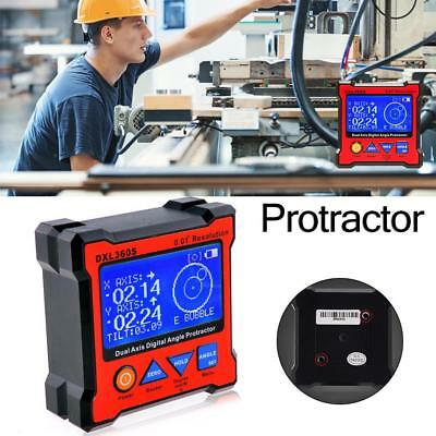 DXL360S Dual Axis Digital Display Level Gauge Protractor Level Angle Finder
