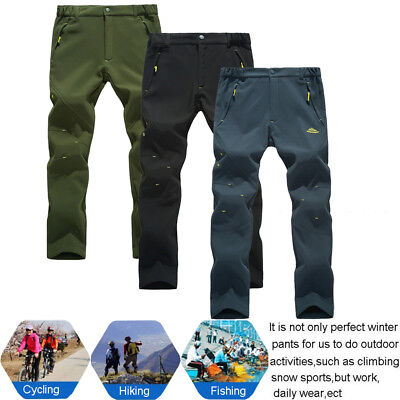 Men's Winter Snow Pants Super Warm Fleece Lined for Outdoor Ski Hiking Camping