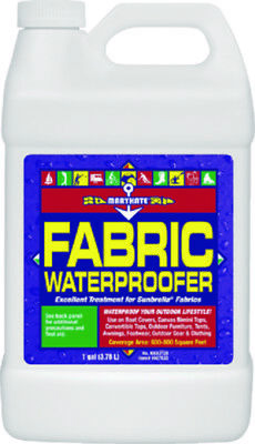 MaryKate Boat Marine Fabric Waterproofer 1 Gallon Jug Restores Water Repellency