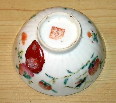 Vintage Chinese China Porcelain Tea Bowl Jian Ding export Wax Seal + red seal