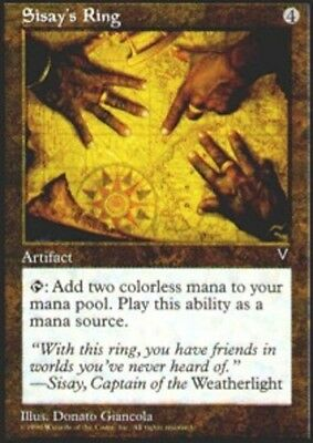 English 7th Edition MTG Magic 4x Sisay/'s Ring NM-Mint