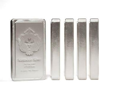 5x 10oz Scottsdale STACKER® Silver Bars 50 Troy oz .999 Silver Bullion #A210