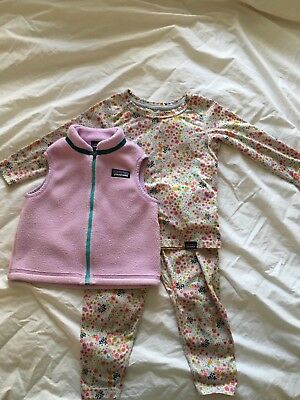 Patagonia Brand Infant Girls Size 12-18 Month Excellent Condition 3 Pieces