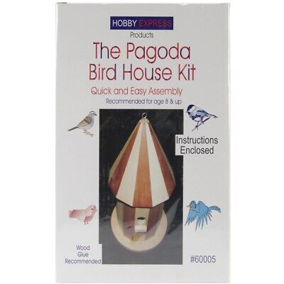 Pinepro Unfinished Wooden Bird House Kit, Pagoda - Wood Kit