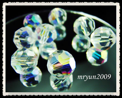 Beads New AB findings #5000 100CS Spacer FREE Round crystal Clear 6mm Charms Lot