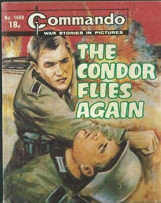 The Condor Flies Again,commando War Stories In Pictures,no.1669,war Comic,1983
