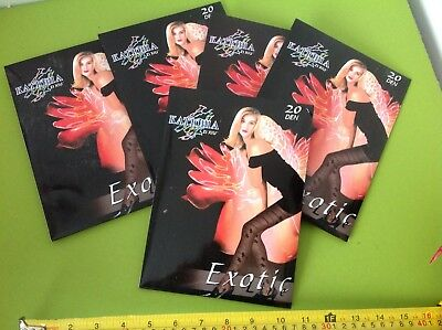JOBLOT WHOLESALE PATTERNED TIGHTS BLACK 20 DENIER NYLONS bnip x5 JOB LOT New